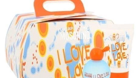 Moschino Cheap And Chic I Love Love dárková kazeta pro ženy toaletní voda 4,9 ml + tělové mléko 25 ml + sprchový gel 25 ml