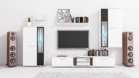 MEBLINE Moderní obývací stěna SALSA bílý