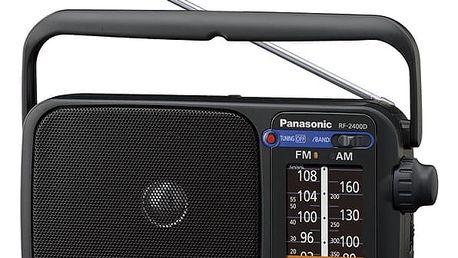 Radiopřijímač Panasonic RF-2400DEG-K (RF-2400DEG-K) černý