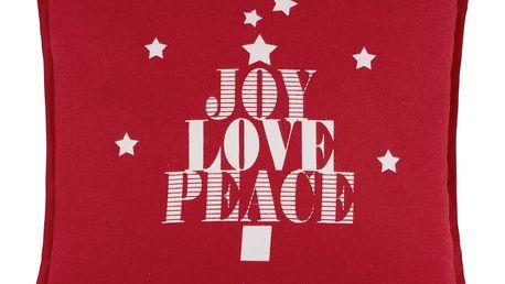 Polštář ozdobný joy love peace, 45/45 cm