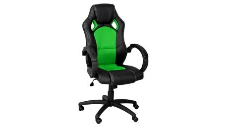 Otočná kancelářská židle ZELENÁ MX Racer