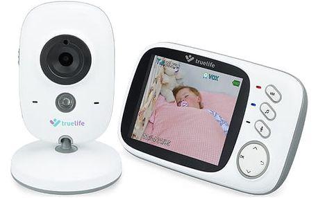 Dětská elektronická chůva TrueLife NannyCam H32, digitální video bílá