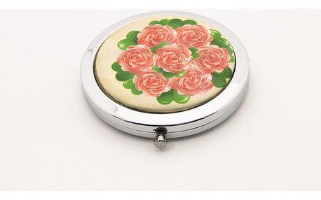 Kapesní kosmetické zrcátko Retro Rose růže