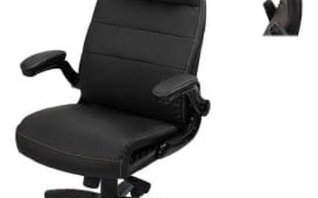Kancelářské křeslo Hawaj Deluxe s nastavitelnou opěrkou hlavy černá