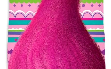 TipTrade Osuška Trolls pink, 70 x 140 cm