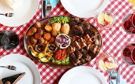 Balkánská hostina s nápoji a dezerty pro dva