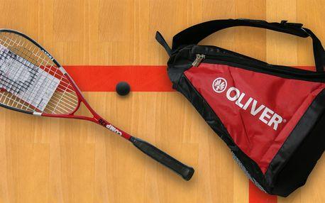 Profesionální squashové vybavení OLIVER - raketa, batoh a míček