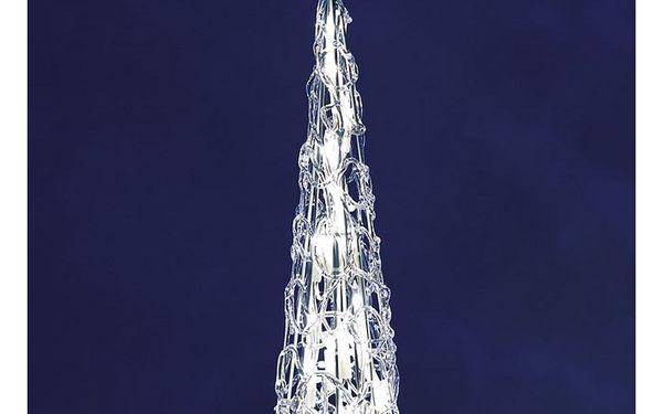 Svíticí pyramida, 20 světel, 38 x 10 cm3