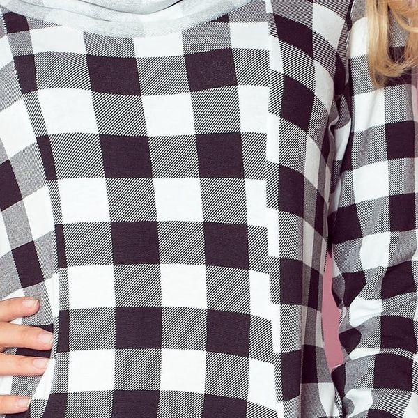 Dámské šaty 71-1 bílo-černá XS3