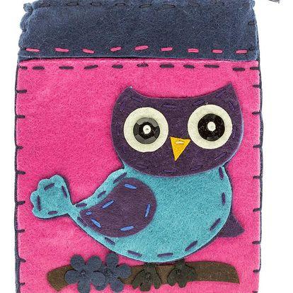Fashion Icon Peněženka flísová Owl ruční práce sova