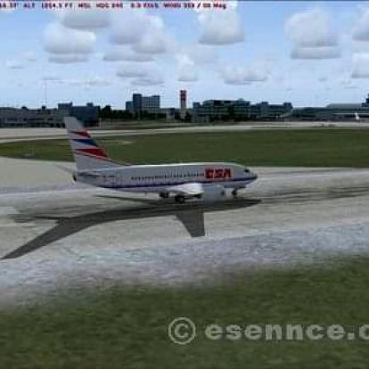 Start a přistání Boeing 737