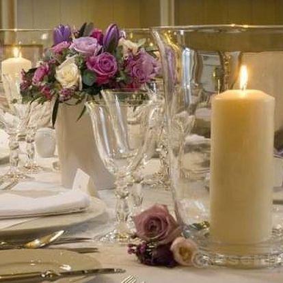 Luxusní večeře na zámku Mcely pro dva