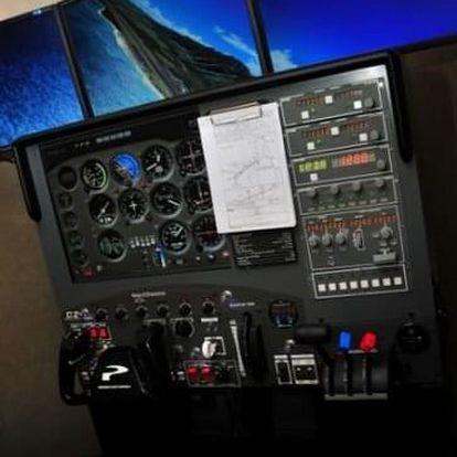 Můj první let - pohyblivý simulátor Cessna