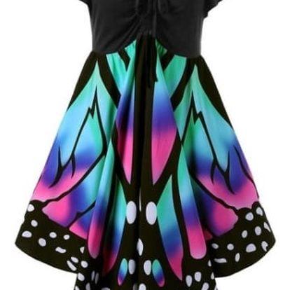 Dámské vzdušné motýlí šaty