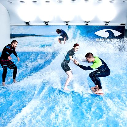 Indoor surfing na půl hodiny
