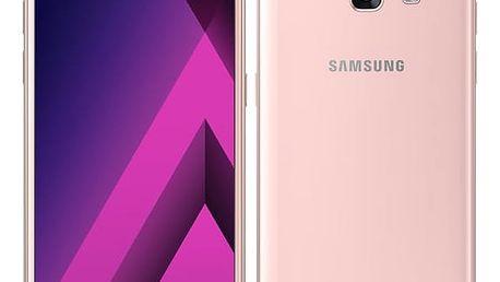 Mobilní telefon Samsung A3 (2017) (SM-A320FZINETL) růžový + DOPRAVA ZDARMA