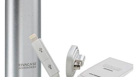Power Bank RivaCase RivaPower VA1005 5000mAh (RP-VA1005) stříbrná