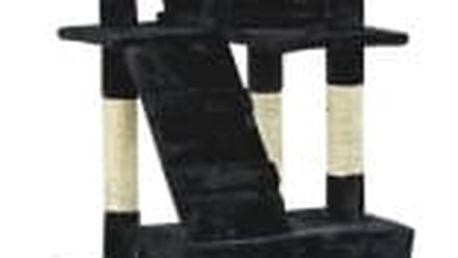 Škrabadlo pro kočky Hawaj, 170x75x50 cm, barva černá