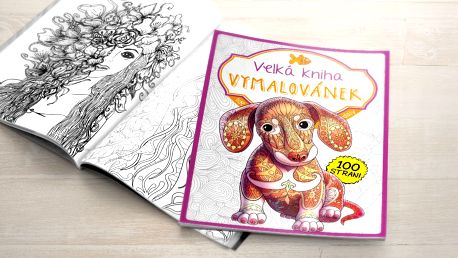 Vymalujte ze sebe stres: Velká kniha Vymalovánek pro dospělé