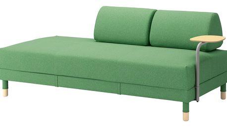 Rozkládací pohovka s odkl. stolkem FLOTTEBO Lysed zelená