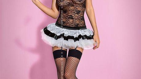 Sexy kostým Housemaid - Obsessive Barva: černá, Velikost: S/M