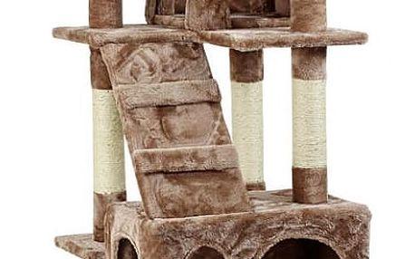 Škrabadlo pro kočky Hawaj, 170x75x50 cm, barva červeno hnědá