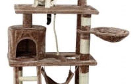 Škrabadlo pro kočky Hawaj, 140x65x40 cm, barva červeno hnědá