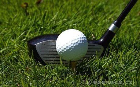 Den s golfem na Dýšině pro dva začátečníky