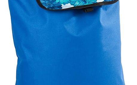 Nákupní taška na kolečkách Daisy modrá