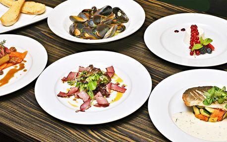 Degustační menu s rybou i srnčím hřbetem pro 2