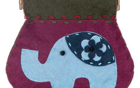 Peněženka HANDMADE Slon flísová fialová