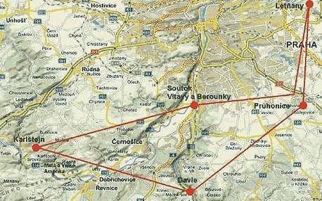 Vyhlídkový let Praha - Karlštejn