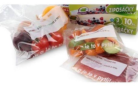 Potravinové sáčky se zipem Ziposáčky 10 ks