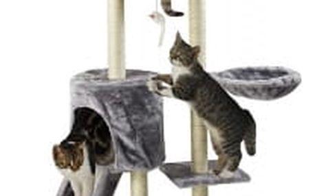 Škrabadlo pro kočky Hawaj, 138x50,5x36 cm, barva antracit