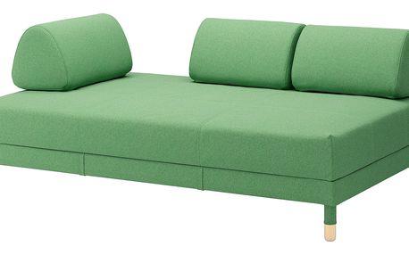 Rozkládací pohovka FLOTTEBO Lysed zelená
