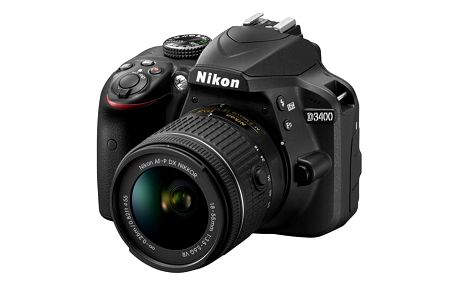 Digitální fotoaparát Nikon D3400 + AF-P 18-55 VR (VBA490K001) černý + DOPRAVA ZDARMA