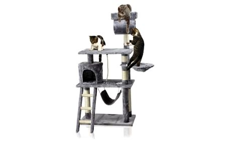 Škrabadlo pro kočky Hawaj, 140x65x40 cm, barva antracit