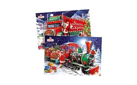 Adventní kalendář maxi Vánoční express 170g