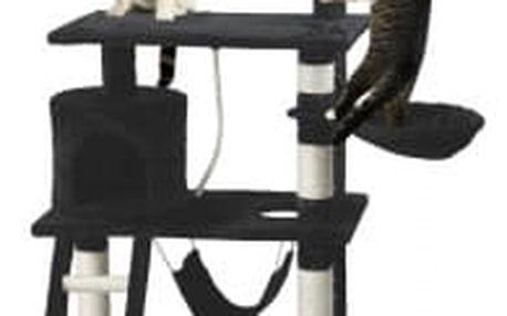 Škrabadlo pro kočky Hawaj, 140x65x40 cm, barva černá