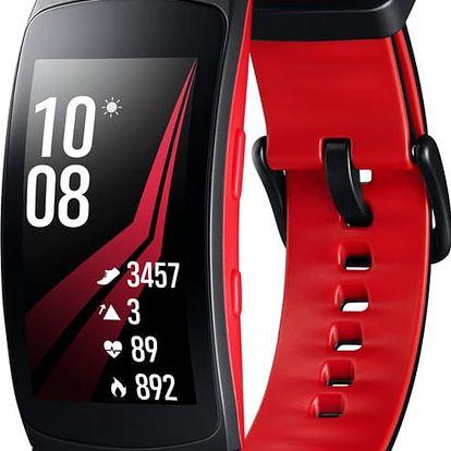 Samsung Gear Fit2 PRO, červená/černá - SM-R365NZRAXEZ