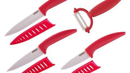 Banquet 7dílná sada keramických nožů GOURMET CERAMIA ROSSA
