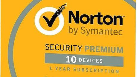 Symantec Norton Security Premium 3.0 - 25GB, CZ, 1 uživatel, 10 zařízení, 1 rok - el. licence - 21358343