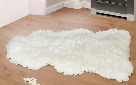 Bellatex Vlněná předložka Kožešina bílá, 90 - 105 cm