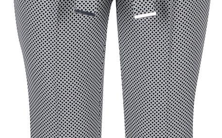 Černo-krémové zkrácené vzorované kalhoty Dorothy Perkins Petite