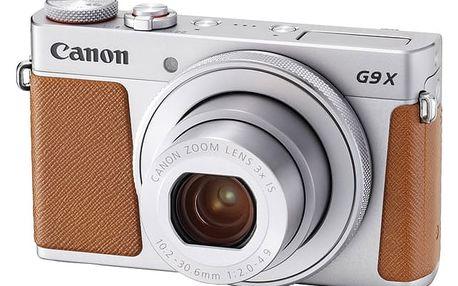 Digitální fotoaparát Canon PowerShot G9 X Mark II Silver (1718C002) stříbrný Paměťová karta Kingston SDXC 64GB UHS-I U1 (90R/45W) v hodnotě 1 199 Kč + DOPRAVA ZDARMA