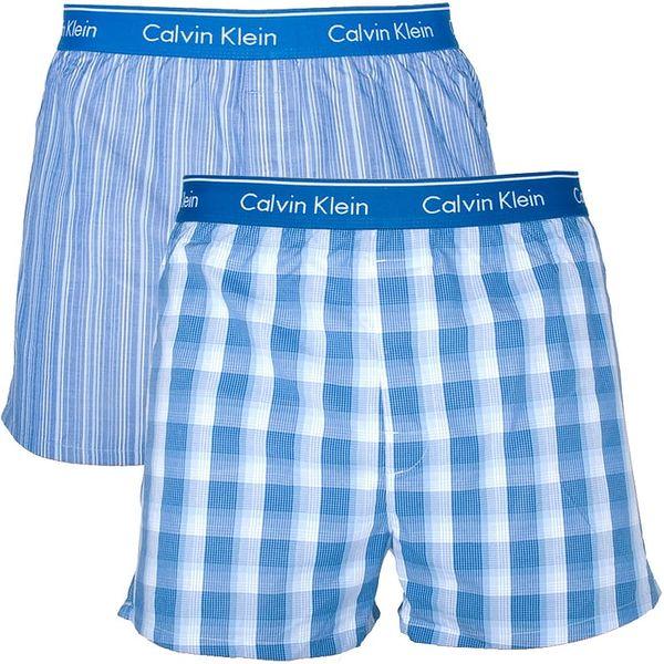 2PACK pánské trenýrky Calvin Klein Classic Fit modré L