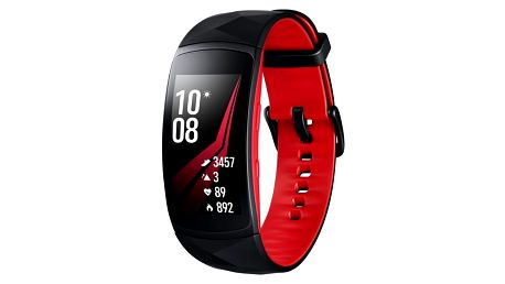 Fitness náramek Samsung Gear Fit2 Pro vel. L (SM-R365NZRAXEZ) černý/červený + DOPRAVA ZDARMA
