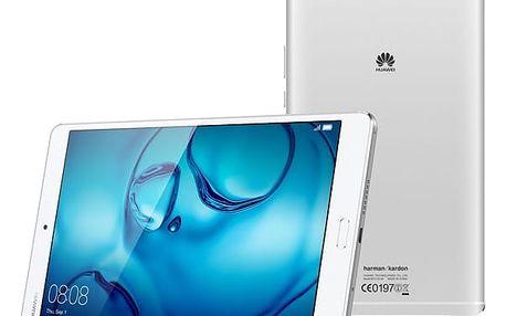 Dotykový tablet Huawei M3 8.4 32GB Wi-Fi (TA-M384W32SOM) stříbrný Čisticí sada ColorWay CW-5151 + Paměťová karta Kingston MicroSDXC 64GB UHS-I U1 (45R/10W) + adapter + Power Bank Aligator PB150 se svítilnou 15600mAh bílá v hodnotě 1 099 Kč + DOPRAVA ZDARM