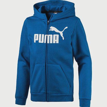 Mikina Puma ESS No.1 FZ Hoody, FL Modrá
