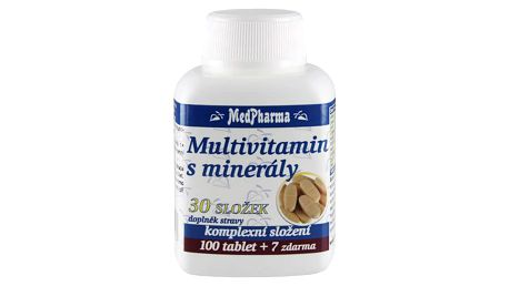 MEDPHARMA Multivitamín s minerály 30 složek 107 tablet